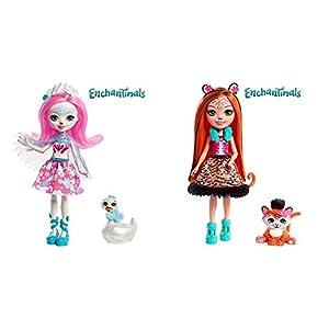 Enchantimals Muñeca con Mascota Saffi Swan (Mattel FRH38) + Muñeca con Mascota Tanzie Tiger (Mattel FRH39)