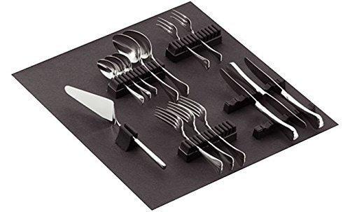 GedoTec® Besteckhalter-Sortiment Besteckeinsatz selbstklebend mit Filzauflage | für 70-teiliges Besteck | Filz ist weinrot | Besteckeinlage für Schubladen & Schubkasten | Markenqualität für Ihren Wohnbereich