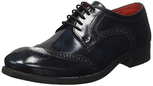 Base LondonConiston - Scarpe stringate Uomo , Blu (Bleu (Washed Blue)), 43