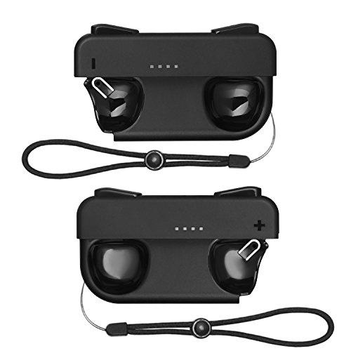[2 Piezas] KINGTOP Cargador para Mando de Nintendo Switch Recargable Empuñadura de carga para Joy-Con Joy Grip Cargador Manija Comodidad para N-Switch Joy-Con con Cable Tipo C y Indicador LED de Carga 41SM6xOV1RL