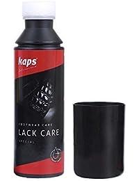 Acondicionador para barnizado, lacado, Sintético, y piel de serpiente, evita grietas, para zapatos y bolsas Kaps Cuidado de la falta negro negro