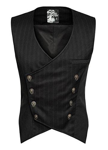 tel, schwarz, 14745_1-75 (Gilet De Costume Noir Homme)