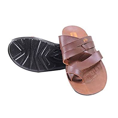 VKC Pride 1401 brown men slippers size 7