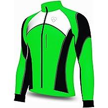 Softshell viento stoper bicicleta de carretera bicicleta Ciclismo chaqueta Top Térmico Completo saleeve, color verde, tamaño XL