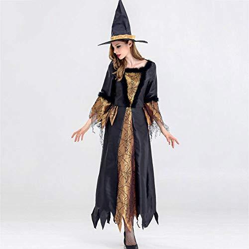 Olydmsky karnevalskostüme Damen Halloween Hexe Kostüm weiblichen Erwachsenen Horror Hexe Make-up Tanz Bühne Partyoutfit