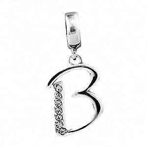 CHANGEABLE Damen-Charm Baumeln Sterling-Silber 925″ Buchstabe A – Z