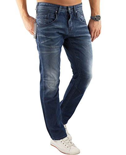 JACK & JONES Herren Jeans jjiBOXY jjLEED JJ 1005 Blue Denim Hose Loose Fit (32W / 34L, Blau (Blue Denim Fit:LOOSE))