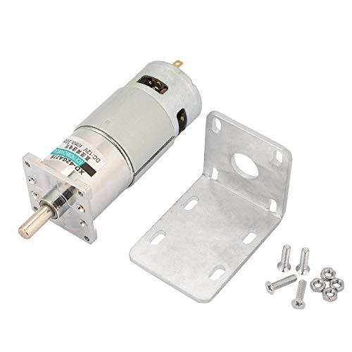 DC-Getriebemotor, XD-42GA775 DC12V/24V Micro-DC-Getriebemotor Motor mit einstellbarer Drehzahl und Halterung(300RPM-12V)