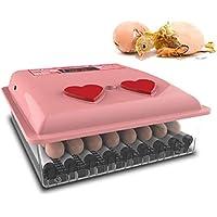 Phil Beauty Incubadora Pequeño Tipo De Incubadora Doméstica Fuente De Alimentación Dual Inteligente Multifuncional Expandible Juguetes para Incubar para Niños Rosado,30 Eggs