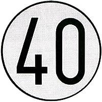 Cofan 199003 Placa de Velocidad Homologada 40