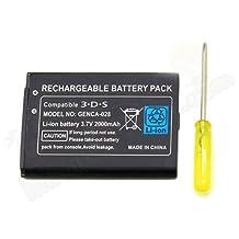 Nintendo 3DS Pil Batarya 2000 mAh Tornavida Hediyeli