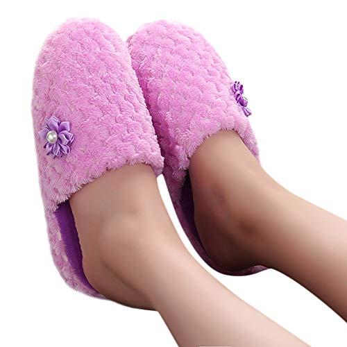 TianWlio Hausschuhe Weihnachten Mode Wärmer Schuh Fester Pantoffel zu Hause Anti-Rutsch Winter Haus Schuhe Flip Flops