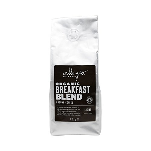Allegro Coffee Organic Breakfast Blend Ground Coffee, 227 g 41SMETO 2B0zL