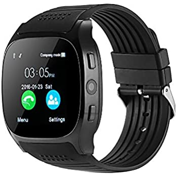 Cebbay Reloj Inteligente Reloj Deportivo Reloj de Hombre Reloj led Nuevo T8 BT3.0 Soporte para cámaras SIM y TFcard para Android