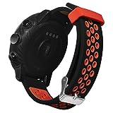Transer Armband Für Xiaomi Huami AMAZFIT 2/2S /Sportuhrband Ersatzuhr Armband Silikonband Weich mit Schnalle (Red)