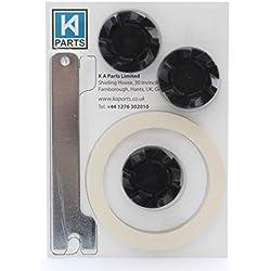 3 x coupleurs en caoutchou pour mixeur KitchenAid avec clé pour le détachage et joint pour lame
