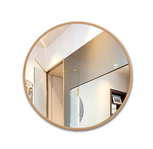 HGXC Espejo Redondo con Borde de Madera Espejo de baño Europeo Espejo Espejo de tocador Espejo de baño...