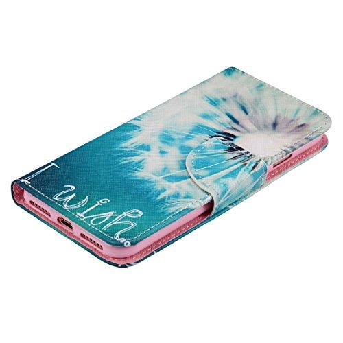 Custodia a portafoglio per iPhone 7/8 Pink Dandelion Lomo Dandelion