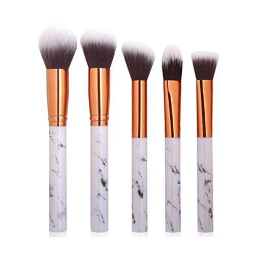 OHQ 5 Pinceaux De Maquillage En Marbre Pcs Multifonctionnel Brosse Concealer Fard À PaupièRes Brush Set Pinceau Outil Fibre Laine Ensembles Et Kits (A)
