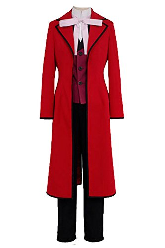 Fuman Black Butler Shinigami Grell Sutcliff Cosplay Kostüm ROT (Shinigami Cosplay Kostüm)