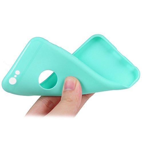 """Coque iPhone 6 / iPhone 6S Mavis's Diary Housse Étui de Protection TPU Gel Silicone Souple Bumper Coque Antichoc Phone Case Cover 4.7"""" Découpe du Logo + 1 x Film de Protection en Verre Trempé Écran Pr Vert"""
