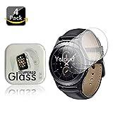 Ycloud [4 Stück Panzerglas Folie Schutzfolie Bildschirmschutzfolie für Samsung Gear S2 Classic Smartwatch mit Härtegrad 9H, 0,26mm Ultra-Dünn, Abger&ete Kanten