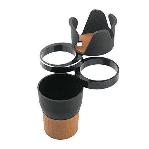 Politice Car Drink Cup Holder , 3 in 1 multifunktionaler Car Cup Holder , Aufbewahrungsbox Innenraum Aufbewahrungszubehör Telefonhalter Sonnenbrille Organizer , 360 Grad einstellbar