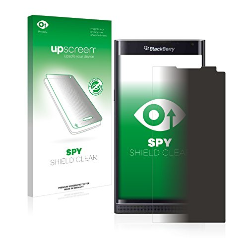 upscreen Blickschutzfolie BlackBerry Priv Privacy Screen Sichtschutzfolie, Anti-Spy Displayschutzfolie - Made in Germany (Blackberry Geschnitten)