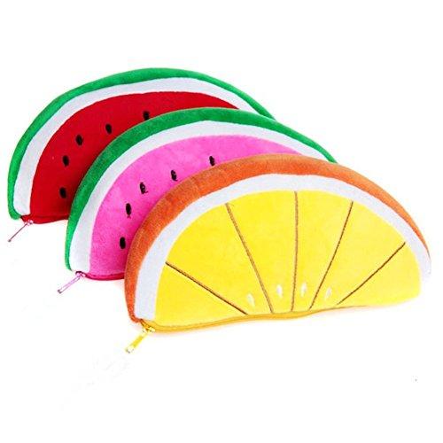 Kentop 3 Stücke Wassermelone Federmäppchen Multifunktions Griffelmappe Für Federmäppchen,Damen Schminktäschchen (12 Stück Baumwolle Bath)
