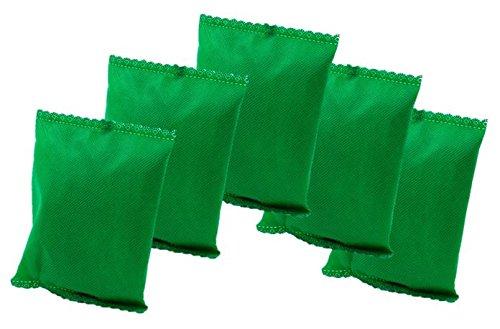 KochWunder Bunte Bambus Lufterfrischerkissen mit natürlicher Aktivkohle, 5er Set (grün)