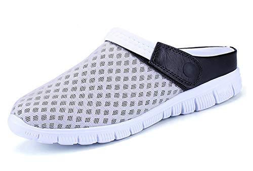 Sandalias de Playa Hombre,Zuecos de Sanitarios Zapatillas Ligeros Respirable Zapatos Verano,Gris,42 EU=43 CN