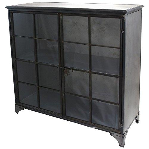 Credenza Madia Buffet Armadio vitrée stile industriale ferro metallo 100cm