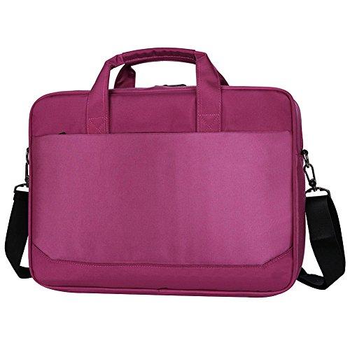 Yirenhuang Herren Damen 14-15.6 Zoll Laptoptasche Nylon Multifunktional Schulter Messenger Aktentasche Wasserdicht Tragbare Taschen Lila SC51801 15.6 Zoll (Damen-schulter-laptop-tasche)