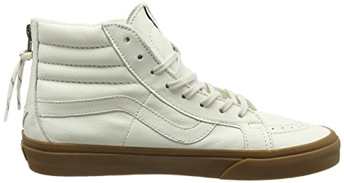 Vans Unisex-Erwachsene Sk8-Hi Reissue Zip High-Top Elfenbein (Hiking white/gum)