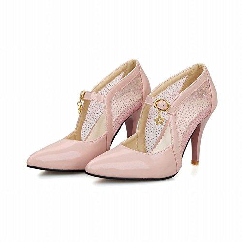 Mee Shoes Damen high heels Schnalle Mesh Pumps Pink