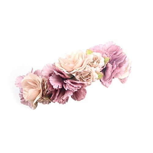 Uzinb Frauen-Mädchen-Blumen-Haar-Kranz-Festival Hochzeit Blumenstirnband