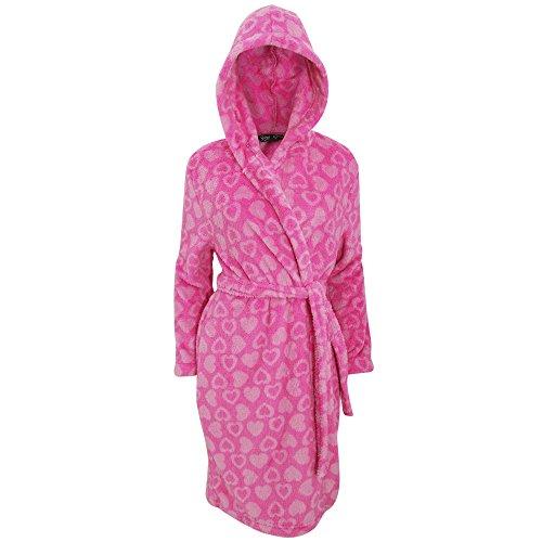 Selena - Robe de chambre polaire à capuche - Femme Sarcelle/Gris