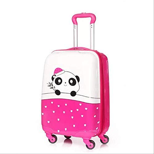 Valigia Per Bambini DXWF 18inch Bambini Rolling Bagagli Spinner Portare Sulla Valigia Di Viaggio Bambini Trolley Bag Scatola D'imbarco N. 53/35/22CM rosa rosso
