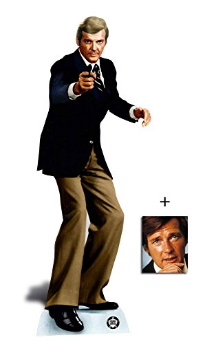 Roger Moore Secret Agent Spy Lebensgrosse Pappaufsteller mit 25cm x 20cm foto