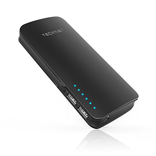 TeckNet externer Akku Pack powerzen Tragbares Ladegerät 16750 mAh 2-Port USB Power Bank mit bluetek Smart Technologie Ladekabel für iPhone 8/7/7 Plus, iPad und Galaxy S8 und mehr