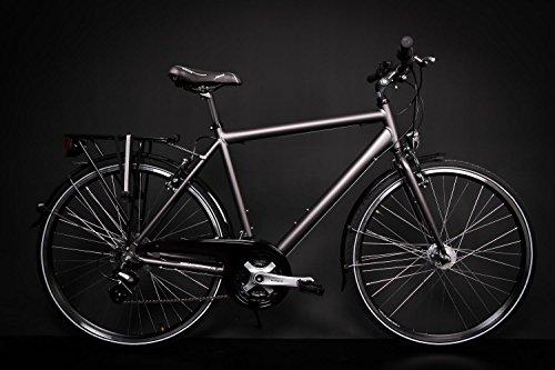28' Zoll Alu MIFA Herren Trekking Fahrrad Shimano 21 Gang Nabendynamo anthrazit Rh 55cm