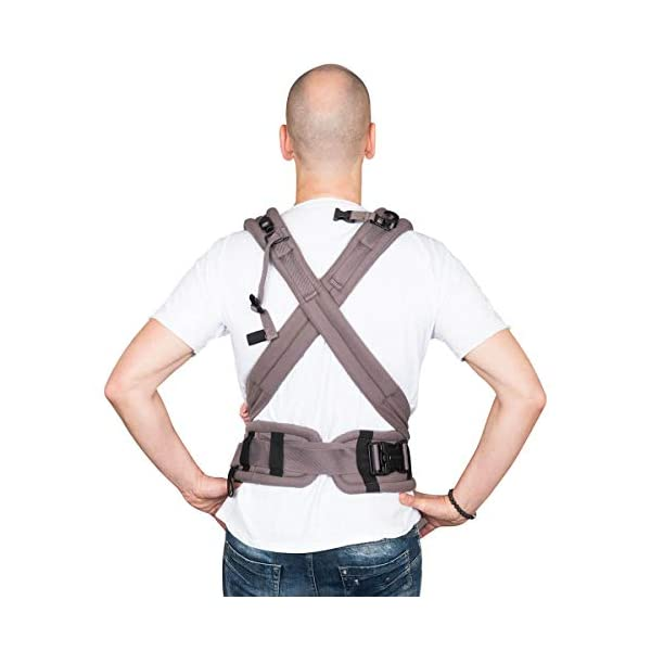 Hoppediz Nabaca Basic-Set, Classic, Grey Hoppediz Modular comfort carrier consisting of two shoulder straps, one hip belt and two carrier panels in sizes s and m The wide, padded shoulder straps and the hip belt are flexibly adjustable in different sizes and protect your neck and back. A detailed illustrated instruction manual (available in several languages) is enclosed. 2