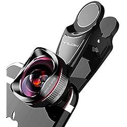 YILON Objectif de caméra HD et 4K pour Téléphone : Kits de lentilles de caméra Professionnelles pour Objectif Grand Angle 120 °et lentille Macro 15X pour iPhone, Samsung,et Autres Smartphones