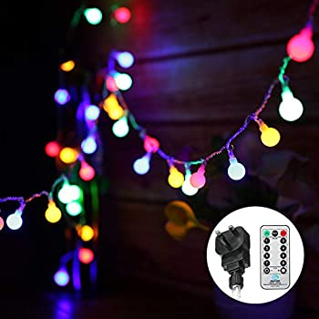 Globe String Lights Mains Powered 13m 43ft 100 Led Outdoor