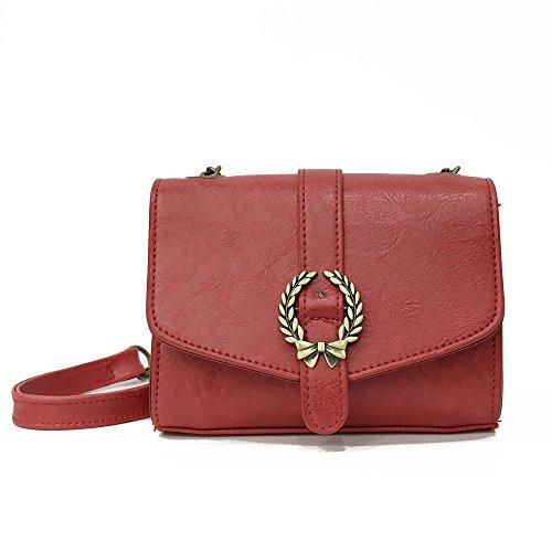 TIFIY Damen Neu Ankunft Retro Abdeckung Haspe Kette Crossbody Schulter Tasche Handtasche (Rot) (Handtasche Schulter Stil)