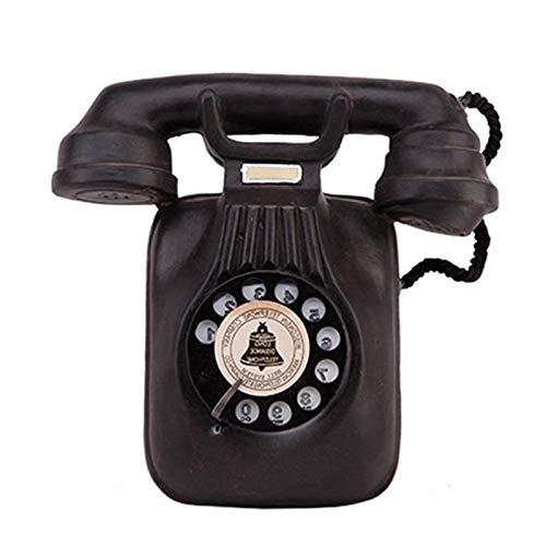 TOOGOO Modelo De Teléfono Vintage Colgante De Pared Retro Nostálgico Artesanías Teléfono En Casa Figuras En Miniatura