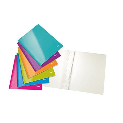 Leitz 30011099 WOW Schnellhefter (A4, Karton), Farbe zufällig