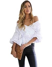 RETUROM Mujeres Blusa Camiseta Ropa, Blusa vendedora Caliente del Vendaje de Las Mujeres Atractivas de