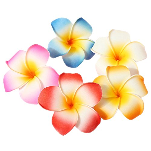 10-piezas-de-5-cm-multicolor-Hawaiian-pelo-clip-de-espuma-de-playa-flores-para-boda-fiesta-accesorios