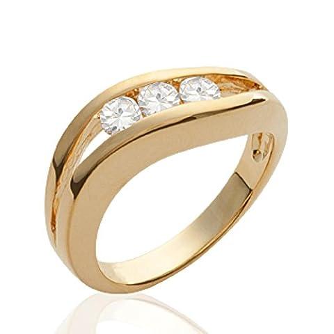 ISADY - Nuala Gold - Bague femme - Plaqué Or 750/000 (18 carats) - Oxyde de Zirconium